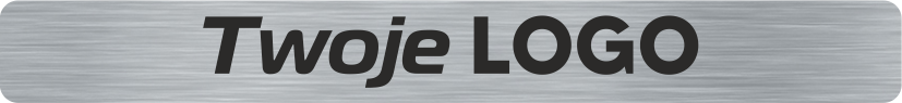 Płytka PG srebrna z grawerem logo